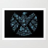Alien Agents Art Print