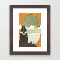 Evening surf Framed Art Print