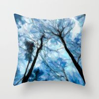 Trees Reaching For The S… Throw Pillow