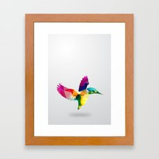 Bird. Glass animal series Framed Art Print
