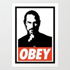 Obey Steve Jobs Art Print