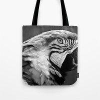 Black & White Parrot  Tote Bag
