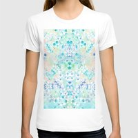 Pastel Flowers  Womens Fitted Tee White SMALL