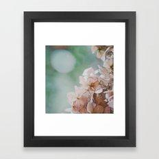 Pastel Hydrangea Framed Art Print