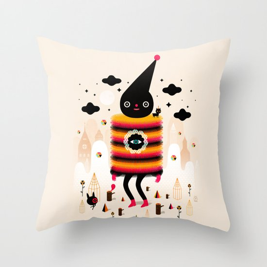 Mr. Wooly Throw Pillow