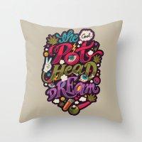 The Cool Pothead Dream Throw Pillow
