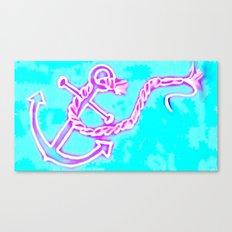 Bright Preppy Anchor Print, hand drawn Canvas Print