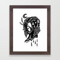 Beware of Psychic Vampires Framed Art Print