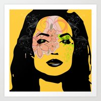 Mysterious Woman 1 Art Print