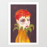 RETRATO 120314 Art Print