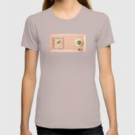 Easy Listening Womens Fitted Tee Cinder SMALL