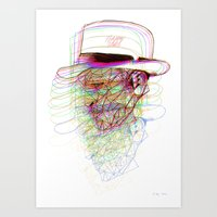 Happy Hat Art Print