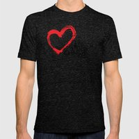 keep hope alive Mens Fitted Tee Tri-Black SMALL