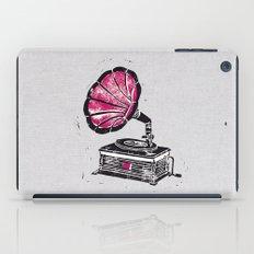 Linocut Gramophone iPad Case