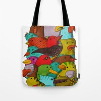 The Birds Of Monkland Village Tote Bag