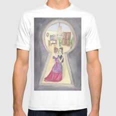 Keyhole Mens Fitted Tee White SMALL