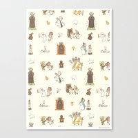 The Holy Grail Pattern Canvas Print