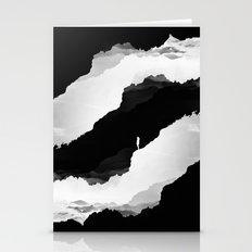 Black Isolation Stationery Cards