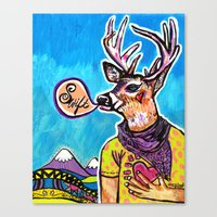 Swift Deer Canvas Print