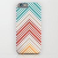 C13 pattern series - pixel chevron iPhone 6 Slim Case