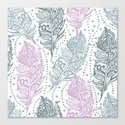 patterned feathers Canvas Print
