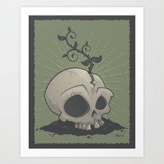 Skull Garden Art Print