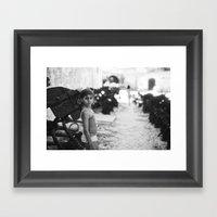 Portrait At Tonnara Di S… Framed Art Print