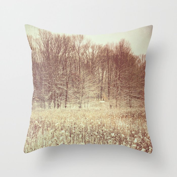 Winter White Throw Pillow by Olivia Joy StClaire Society6