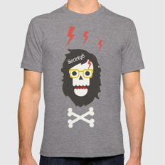 Society6 Skull'n'bones Mens Fitted Tee Tri-Grey SMALL