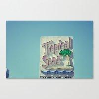 Tropical Seas Motel Canvas Print
