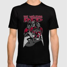 The Walking Red Mens Fitted Tee Black SMALL