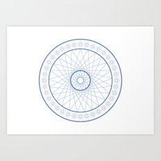 Anime Magic Circle 18 Art Print