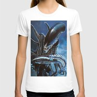alien T-shirts featuring Alien by Tom C Carlton