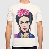 Frida Kahlo By Paola Gon… Mens Fitted Tee Natural SMALL