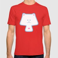 YippyMew Mens Fitted Tee Red SMALL