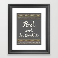 Rest & be thankful Gray Framed Art Print