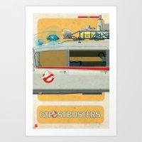 Ecto-1 from Ghostbusters part II of III Art Print