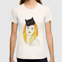 Be A Cat Womens Fitted Tee Natural SMALL