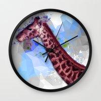 Low Poly Giraffe Wall Clock