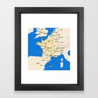 France map design Framed Art Print