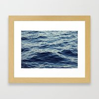 Water Waves Framed Art Print
