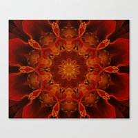 Kaleidoscoped Marigold Canvas Print