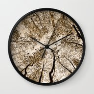 Sepia Fall Wall Clock