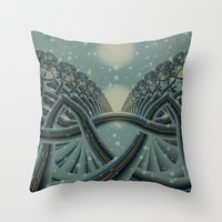 Celtic Winter Forest Throw Pillow