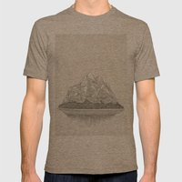 The Mountains And The Wo… Mens Fitted Tee Tri-Coffee SMALL
