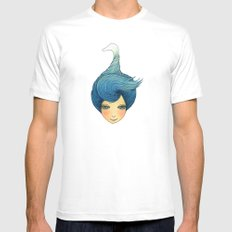 the girl with swan hair Mens Fitted Tee White SMALL