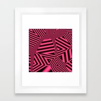 Black and pink abstract Framed Art Print