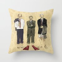 Golden Boys Throw Pillow