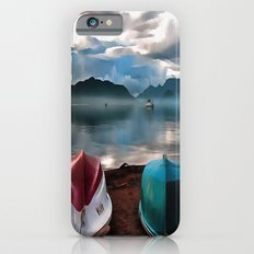 Hulls of Boats And Marmaris Winter Seascape iPhone 6 Slim Case