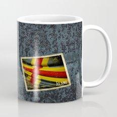Grunge sticker of Aland Islands flag Mug